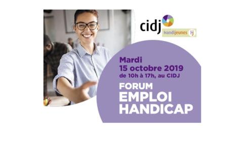 Forum Emploi Handicap 2019, le 15 octobre 2019 au CIDJ