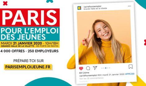 PARIS POUR L'EMPLOI DES JEUNES 2020 : C'EST BIENTÔT !