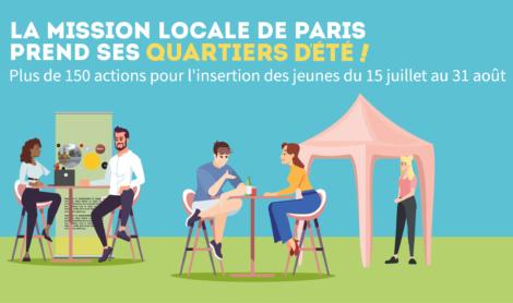 La Mission Locale de Paris prend ses Quartiers d'été ! Lancement le 15 juillet