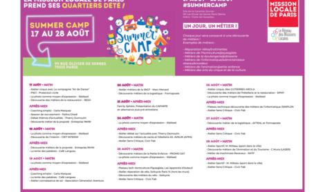 La mission locale prend ses quartiers d'été : # Summercamp – le programme