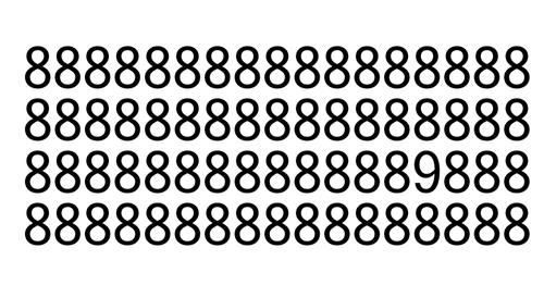 Combien y a t-il de 9 dans la figure ci-après ?
