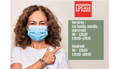 Changement d'horaires : La Mission Locale de Paris ouvre ses sites les lundis, mardis, mercredis et vendredis