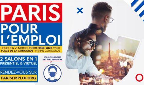 Salon Paris Pour l'Emploi / Jeudi 8 et vendredi 9 octobre 2020