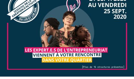 Semaine de la création d'activité 2020 des 13ème et 14ème arrondissements de paris – du 21 au 25 septembre