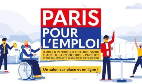 Paris Pour l'Emploi : RDV jeudi 7 et vendredi 8 octobre 2021