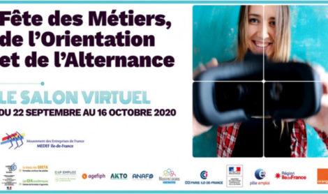 Fête des métiers, de l'Orientation et de l'Alternance – du 22 septembre au 16 octobre 2020