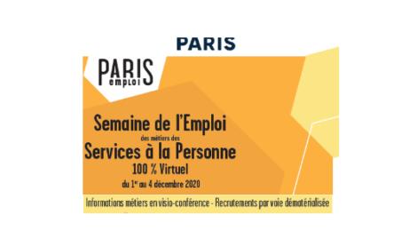 Semaine de l'Emploi dans les métiers des Services à la Personne 100 % Digital du 1er au 04 décembre 2020.