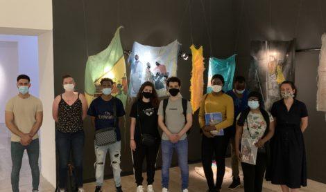 Les jeunes du dispositif ALLERO en visite au Musée d'Art moderne