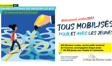 """Semaine des Missions Locales 2021 : """"Tous mobilisés pour et avec les jeunes"""""""