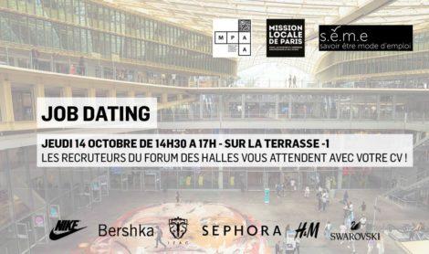 Job Dating : Les entreprises du Westfield Forum des Halles recrutent !